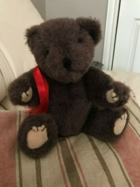 Vintage Brown Little Teddy Bear 8 inch Fully Jointed No Tag Cute Chubby Body