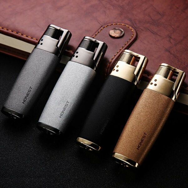 HONEST Metal Jet Flame Torch 1300 C Fire Gas Cigarette Windproof Lighter