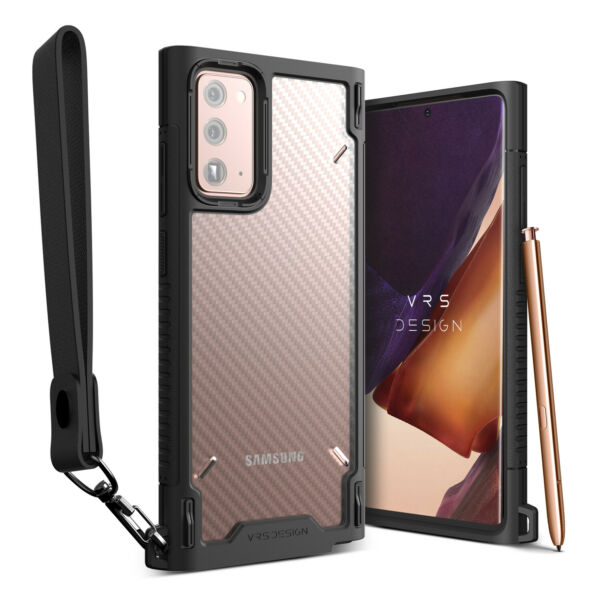 For Galaxy Note 20 Case VRS® Crystal Mixx Pro Carbon Pattern Strap Clear Cover $16.99