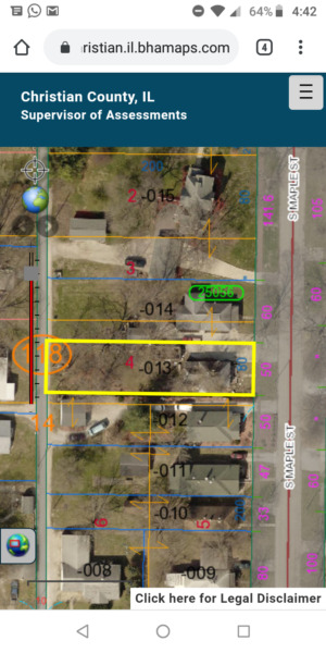 Land for sale NO RESERVE  with House on property Illinois
