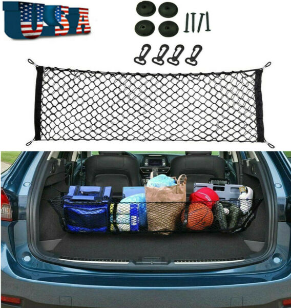 Car Trunk Cargo Net Holder Elastic Mesh Organizer Truck Universal Accessories $13.33