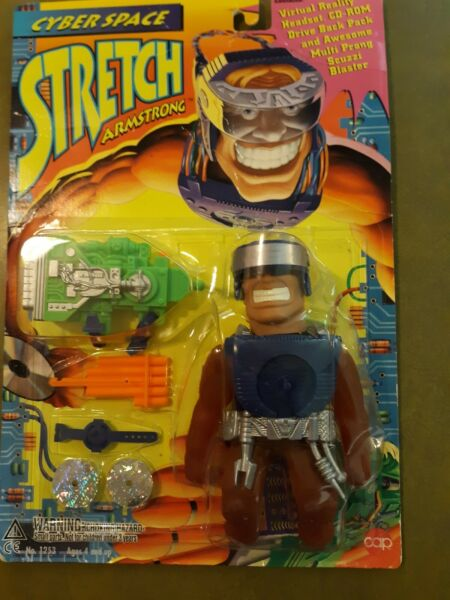 STRETCH ARMSTRONG CYBER SPACE WITH GEAR 1995 VINTAGE NIB CAP TOYS NO 1253 $999.99