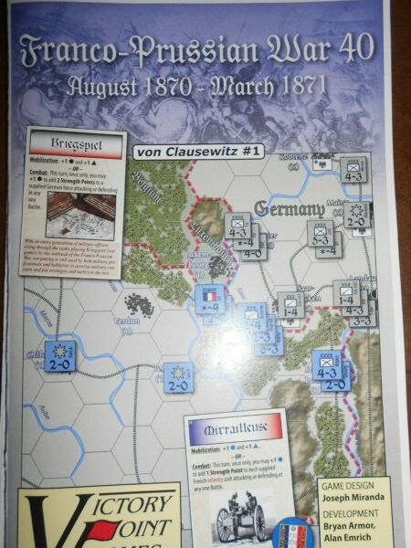FRANCO-PRUSSIAN WAR 40 by Victory Point Games Games 1870-71 Out of Print