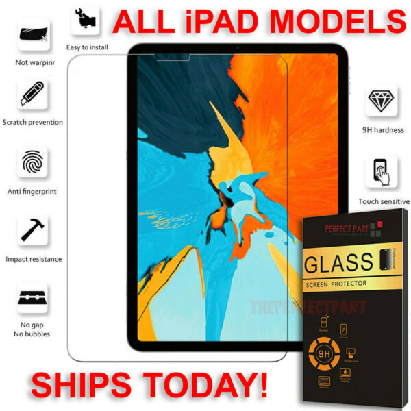 Tempered Glass Screen Protector For iPad 10.2 9.7 7th 5th 6th Air Pro Mini 2 3 4 $7.89