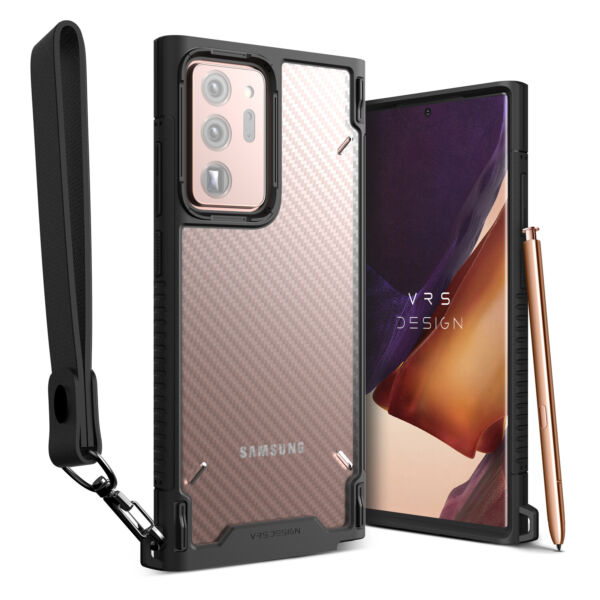 For Galaxy Note 20 Ultra Case VRS® Crystal Mixx Pro Carbon Pattern Clear Cover $14.99