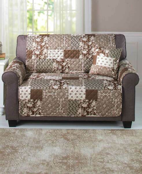 Love Seat Slipcover with Quilted Pattern with Reversible Side $27.98