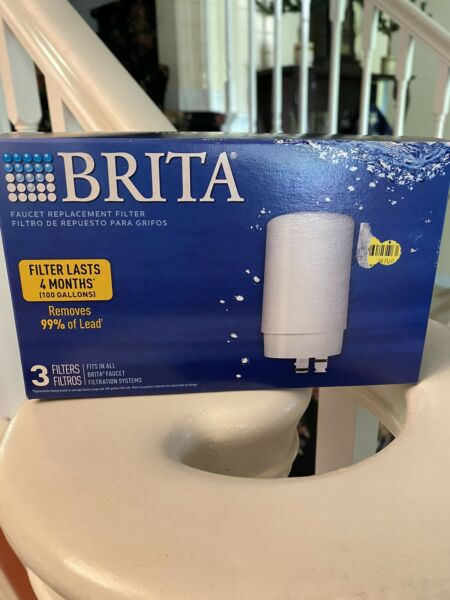 3 Pack Brita Tap Water Filters Faucet Filtration System Replacement Filters