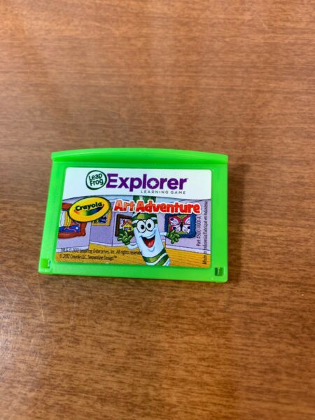 Leapfrog Leapster Explorer Game CRAYOLA ART ADVENTURE Leap Pad 2 3 GS XDi Ultra $6.99