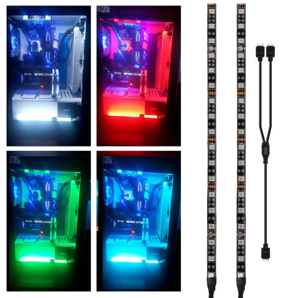 2x RGB PC Case Gaming LED Strip Light for Asus Aura Mid Tower Gamer LD1969