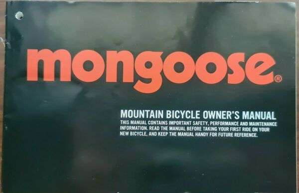 mongoose Mountain Bicycle Owner#x27;s Manual Bike Instructions Guide Pacific Cycle $10.00