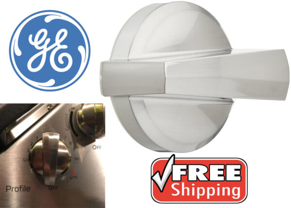 Genuine GE WB03X25796 Stainless Steel Replacement Stove Knob New Free Shipping
