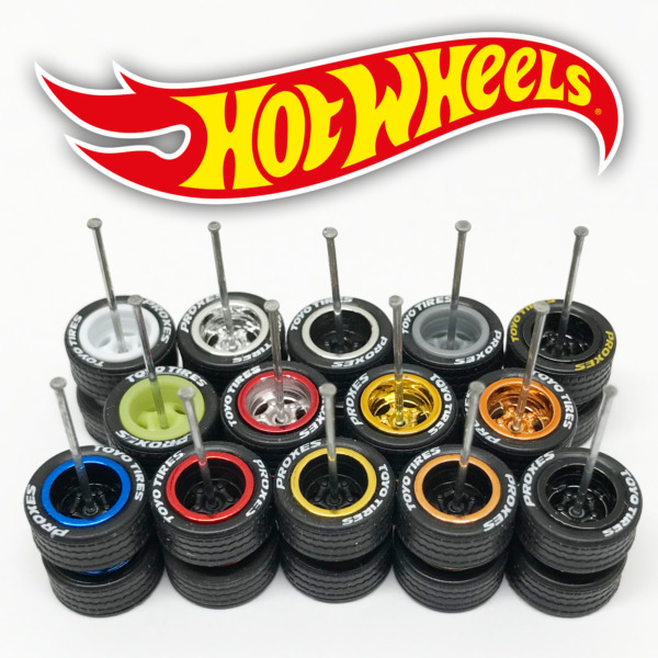 Hot Wheels Real Riders Wheels and Tires Set for 1 64 Scale 5 Spoke Deep Dish $4.44