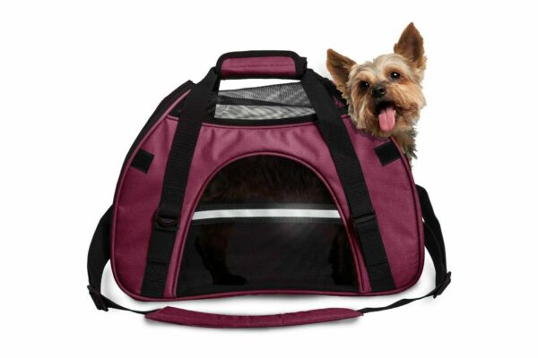 FurHaven All Season Pet Tote SMALL Carrier with Weather Guard Raspberry $19.99