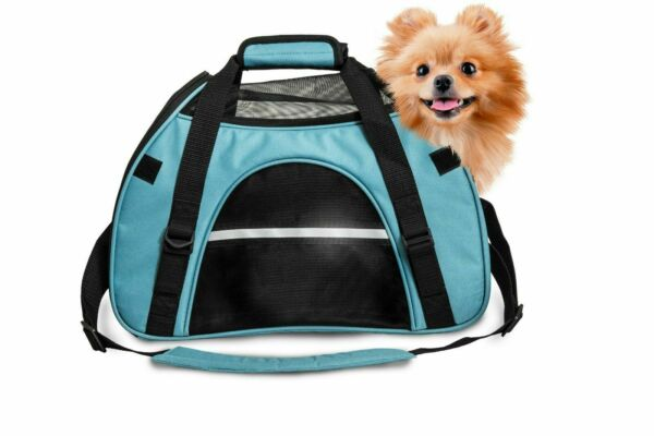 FurHaven All Season Pet Tote SMALL Carrier with Weather Guard Robin Blue $19.99