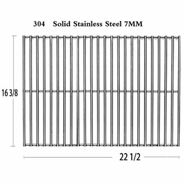Votenli S5421A 1 Pack Stainless Steel Cooking Grid Grates For Charbroil Grill