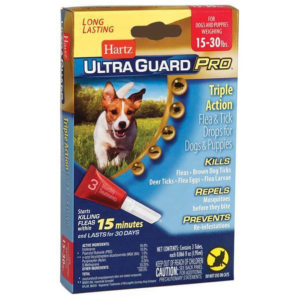 Hartz UltraGuard Pro Flea and Tick Treatment Drops for Dogs and Puppies $8.99