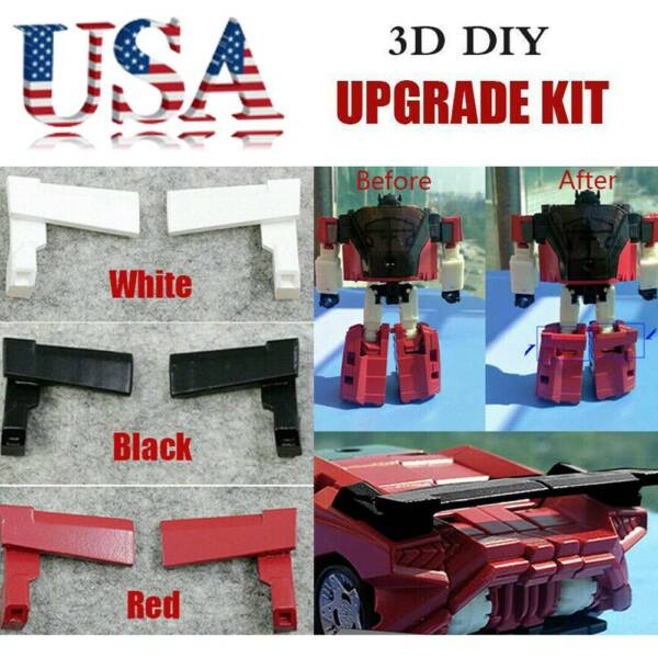 USA 3D DIY upgrade KIT FOR Siege Sideswipe Red Alert car tail Spoilers NEW
