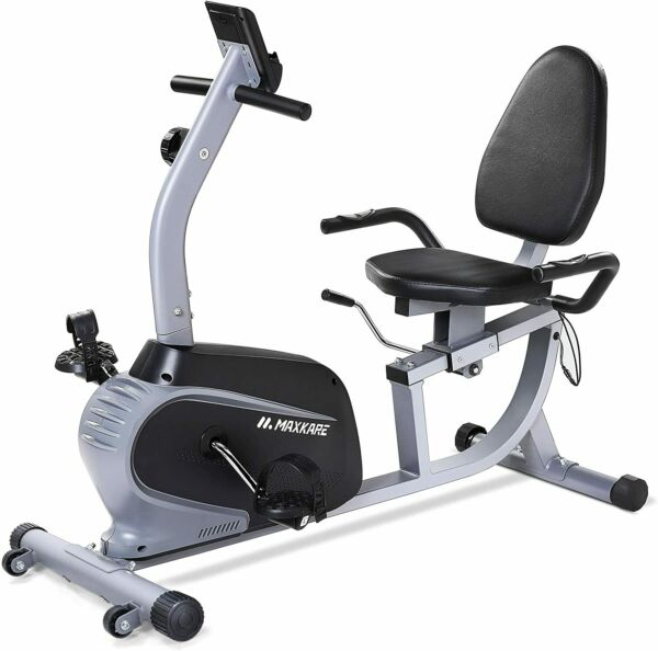 Maxkare Magnetic Recumbent Exercise Bike Indoor Stationary Bike Adjustable Seat $339.99