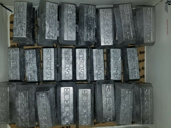 10lbs Cleaned Hard Lead Ingots for all your lead needs FREE PRIORITY SHIPPING