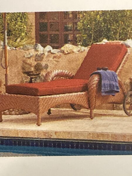 Ravenna Patio Chaise Lounge Cushion Slip Cover amp; Foam Durable Outdoor Cushion $110.00