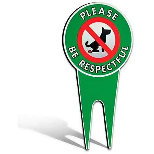 No Poop Dog Signs Stop Dogs from Pooping On Your Lawn Sign Politely Reads... $18.10
