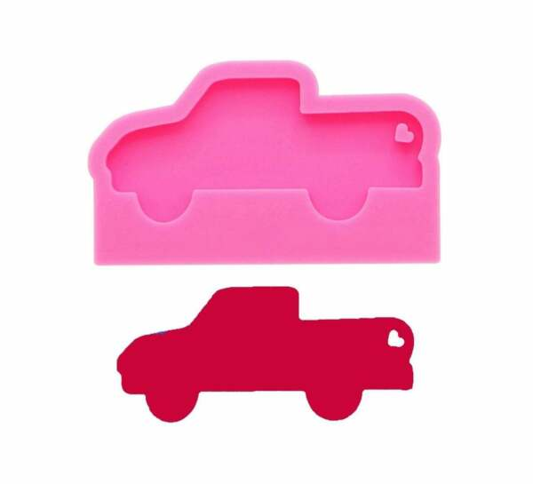 Shiny Car Shape Silicone Mould for DIY Truck Epoxy Keychain Resin Craft MoldSil $5.92