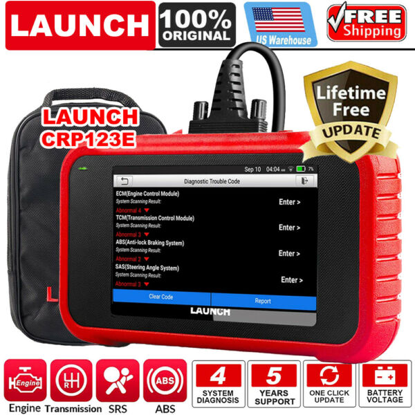 LAUNCH X431 CRP123E OBD2 Car Scanner Auto Diagnostic Tool Scan ABS SRS Engine AT $169.00