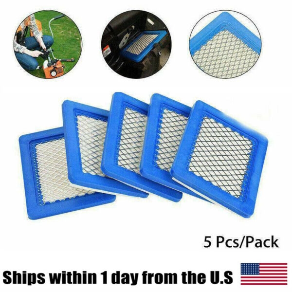 5PCS Air Filter Lawn Mower Filters For Briggsamp;Stratton 491588 491588s 399959 H P $9.19