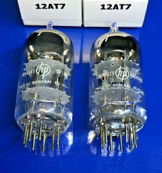 Two Excellent GE 12AT7 Tubes Match Date Codes Test Very Strong amp; Balance