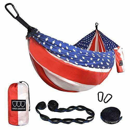 Camping Hammock Extra Large Double Parachute Hammock 2 Tree Straps 16 Loops $68.34