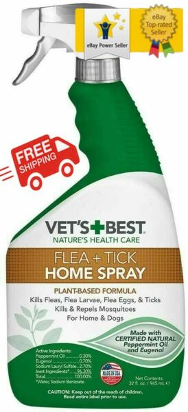 ✅✅✅ Vet#x27;s Best Flea and Tick for Dog and Home Spray 32 oz ✅✅✅ $13.97