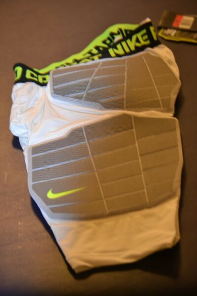 Nike Pro Combat Hyperstrong Padded Girdle Football White L LARGE 584391 101
