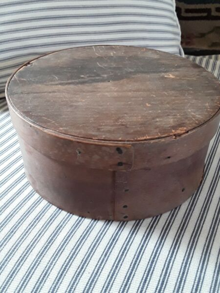 Antique Primitive Early Shaker Bentwood Pantry Box in Original Condition