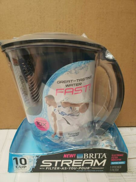 Brita Stream Filter As You Pour Water Pitcher with Filter 10 Cup