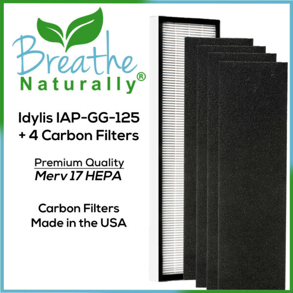 Idylis IAP GG 125 Replacement Bundle with 1 Hepa amp; 4pk Carbon Filters for Idylis $24.99