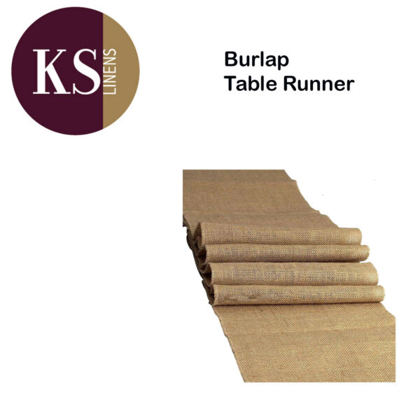Burlap Natural Table Runner 18x120 inches