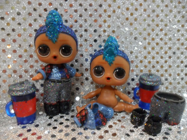 1 New LOL Surprise Doll Sparkle Series Glitter Punk Boi Boy With Accessories