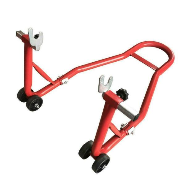 Motorcycle Bike Stand Rear Forklift Swingarm Lift Universal Adjustable Tire Red $43.95