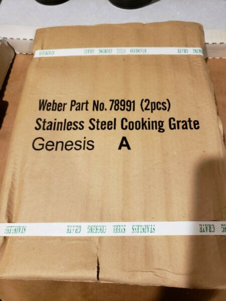 Weber 78991 9885 Stainless Steel Cooking Grates Genuine Set of 2 Brand New