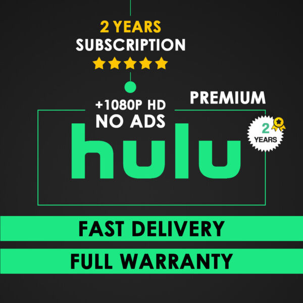 HULU Premium No Commercials 2 YEARS INSTANT Delivery amp; Warranty