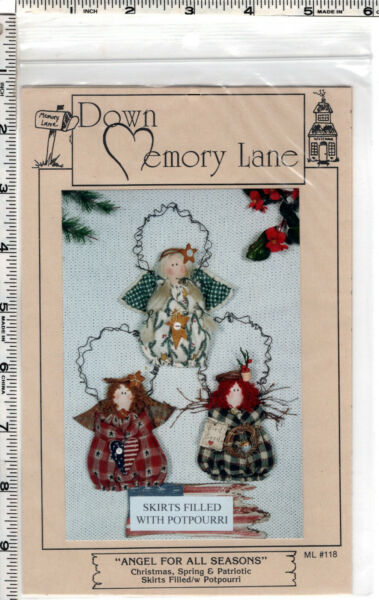quot;Angel for All Seasonsquot; © Down Memory Lane Craft Sewing Pattern # 118 $8.49