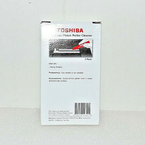 Box 5 Toshiba Thermal Print head Cleaning Pens Linerless Platen Roller Cleaner