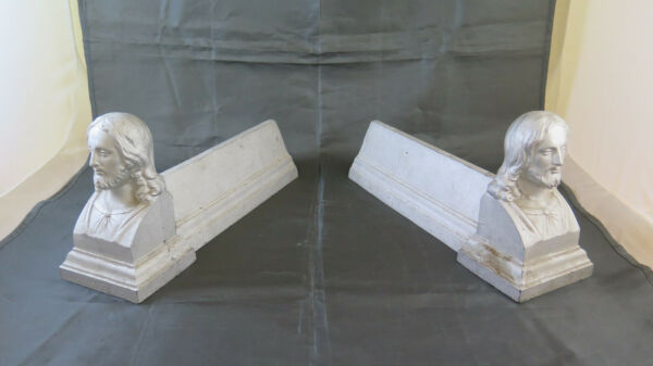 Andirons For Fireplace Cast Iron Half #x27;900 Firedogs GR6
