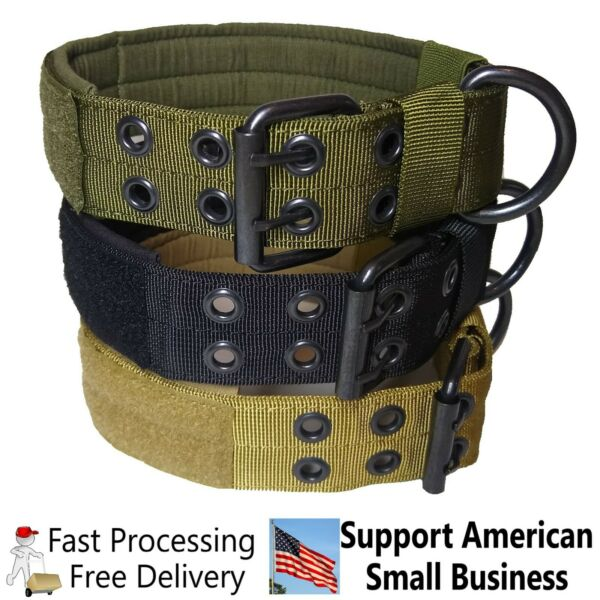 Large Heavy Duty Nylon Dog Collar Tactical Military with Metal Buckle $12.50
