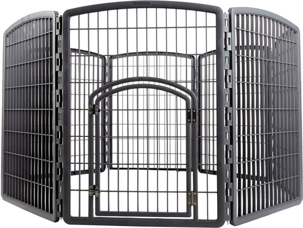 In Out Door Pet Play Pen Puppy Dog Cage Large Gate Fence Kennel Enclosed Area $169.71