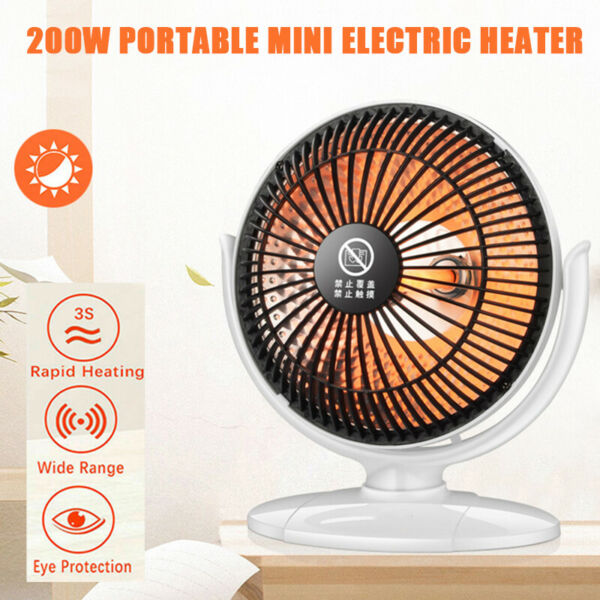 Portable 200W Mini Electric Heater Fan Winter Air Warmer Silent Desk Home Office $15.89