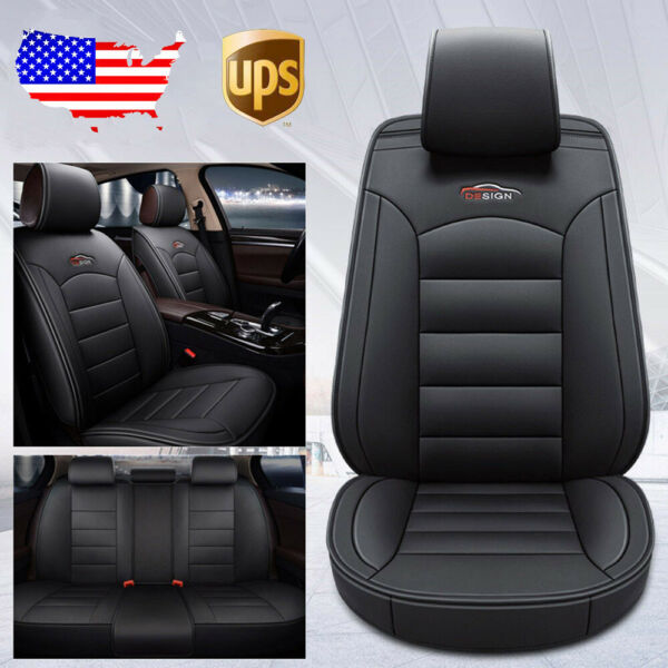 Black Car SUV 5 Seat PU Leather Seat Covers For Nissan Altima Sentra Rogue Kicks $78.93