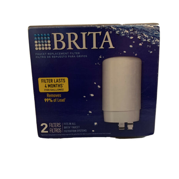 Brita Faucet Filter Replacement White 2 Filters