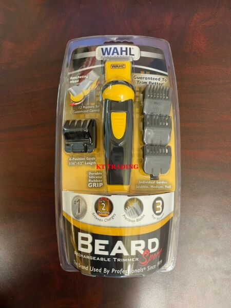 WAHL Sport BEARD Body Hair RECHARGEABLE Self Sharpening T Blade Precise Trimmer