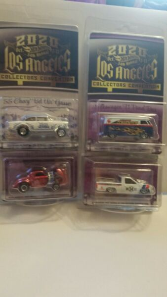 34th HOT WHEELS 2020 CONVENTION WILLY#x27;S GASSER 55 GASSER NISSAN T1 BUS 4 CAR SET $449.99